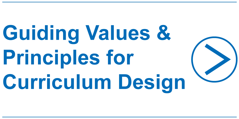 Guiding Values and Principles for Curriculum Design